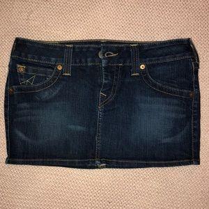 True Religion mini denim skirt 29